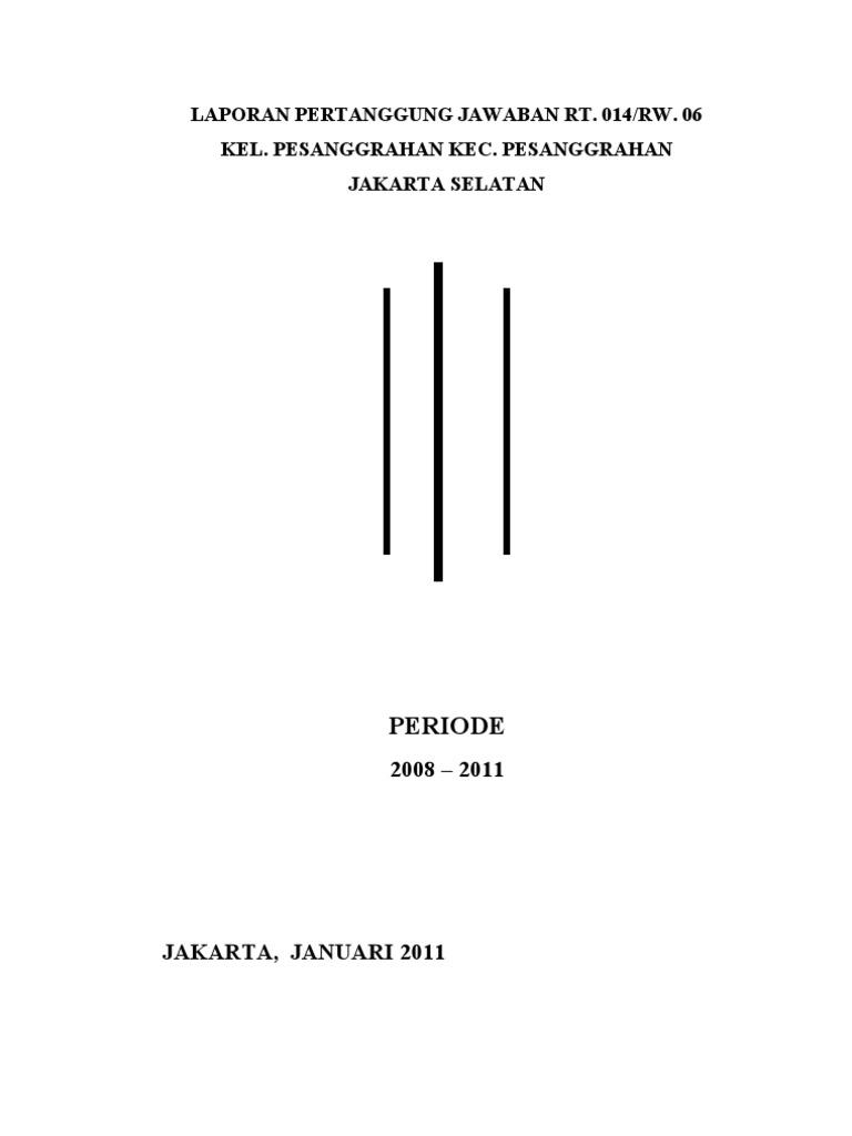 Laporan Pertanggung Jawaban Rt 014 Doc