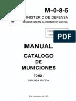 M-0-8-5 Catalogo de Municiones Tomo i Segunda Edicion