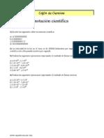 Ejercicios de Notacion Cientifica