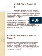 Relación del Plano S con el Plano Z