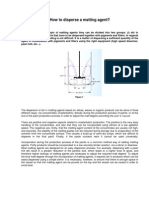 How to Disperse a Matting Agent