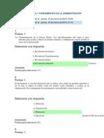 Revisión del intento quiz 1 FUNDAMENTOS DE LA ADMINISTRACION