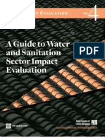 A guide to water sanitation and evaluation sector