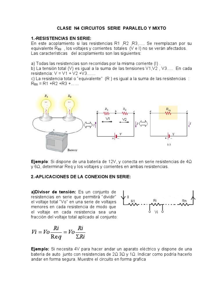 Circuito Seri E Paralelo : Puente clase circuito serie y paralelo