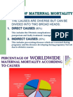 Causes of Maternal Mortality