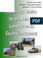 Preliminary Basics for the Role of Land Forces in COIN, 2010
