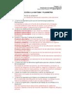 Temario 1.1.2. Introducción a la anatomía y planimetria resuelto