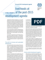Jobs and livelihoods at 