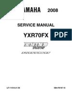 2008 Yamaha Rhino 700 Fi Yxr70fx