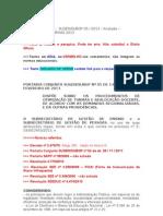 SEE Portaria SUGEN-SUBGP 05-2013 - ANOTADA - Otimização Turma 2013