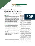 Managing Genital Herpes Infections in Pregnancyjgfjfj
