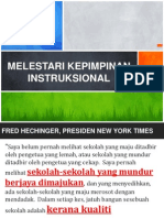 MELESTARI KEPIMPINAN INSTRUKSIONAL