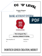 Bank Account System a c Project Report With Code.