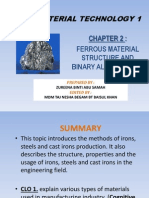 Jf302 Ch 2 - FERROUS MATERIAL STRUCTURE AND BINARY ALLOY SYSTEM