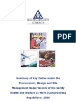 HSA Procurement Design and Site Management Requirements 2006