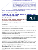 rspca hospital is a killing field