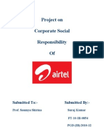 Project on airtel csr