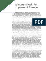 A Salutary Shock for Bien Pensant Europe - Peter Gowan
