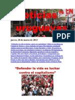 Noticias Uruguayas Jueves 28 de Marzo Del 2013