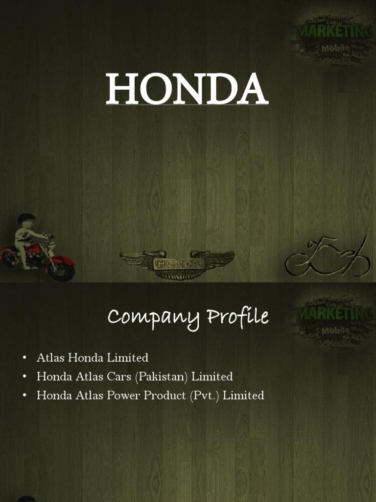 Honda Pakistan Pptx Honda Strategic Management