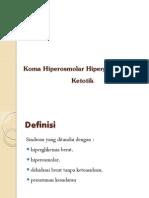 Koma Hiperosmolar Hiperglikemik Non Ketotik
