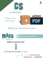 1 MACS- Modelo de Crescimento Linear