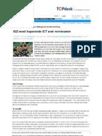 IGZ moet haperende ICT snel vernieuwen, Computable, 15-03-2013