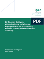 IPCC report into Sir Norman Bettison