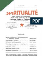 SPIRITUALITÉ « Etre Libre » N° 16 (Mars 1946)