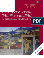 Public Sector Reform: