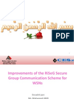 Improvements of the RiSeG Secure Group Communication Scheme for WSNs