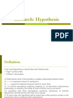Research -Hypothesis