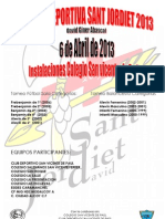 Cartel Trofeo San Jordiet 2013