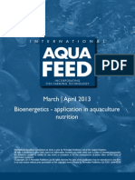 Bioenergetics - application in aquaculture nutrition