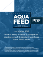 Effect of dietary inclusion of seaweeds on intestinal proteolytic activity of juvenile sea bream, Sparus aurata