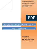 Managementul Relatiilor Publice. Unitatea I