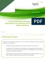 Etude Harris Interactive. Les Français et les municipales