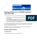 Backup and Recovery of MSSQL Databases With TSM TDP