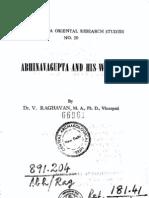Abhinavagupta and his Works