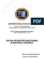 Tesi Pistoni Per Motori Endotermici in Ceramico