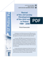 Michał Nowosielski, Revival of the civil society. Development of the third sector in Poland 1989 - 2008
