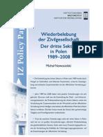 Michał Nowosielski, Wiederbelebung der Zivilgesellschaft Der dritte Sektor in Polen 1989–2008