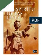 Montesquieu-El Espiritu de Las Leyes