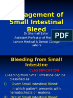 Management of Small Intestinal Bleed