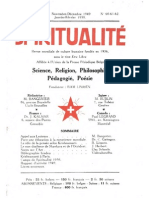 SPIRITUALITÉ « Etre Libre » N° 60-61-62 (Novembre-Décembre-Janvier-Février 1949-50)