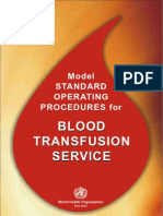 WHO Blood Bank SOPs