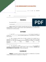 Modelo Contrato de Arrendamiento de Industria (1)