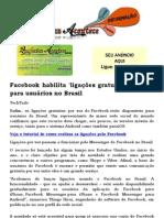 Facebook habilita 'ligações gratuitas' por voz para usuários no Brasil