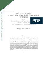 Rudra History Hindu Astronomy Ephemeris 0903.1778v1