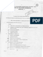 WBUT B. Tech Mechanical Engineering Fifth Semester Design of Machine Elements (ME-503)a Exam - Pa